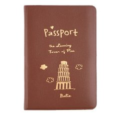 Dapatkan Segera 1Pc 3 Colors Simple Id Document Holder Utility Leather Travel Passport Holder Cover Id Card Bag Coffee