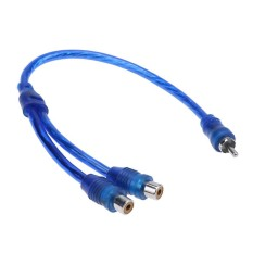 1 Pc 30 Cm 2 Rca Female Ke 1 Rca Male Kabel Cabang Untuk Sistem Audio Mobil (biru)-Intl By Crystalawaking.