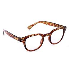 Jual Beli Online 1 Buah Pria Wanita Retro Bingkai Kacamata Bulat Tulostoma Membaca 1 4 Macan Tutul 200