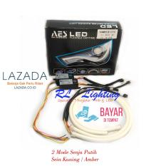 2bh  Led Alis AES Drl Flexible 60cm 2mode Warna Putih - Sein Kuning