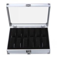 EsoGoal Source · 1X Aluminium Square Kotak Jam Tangan Tempat Penyimpanan Perhiasan Kotak Tampilan 12 Slot Intl