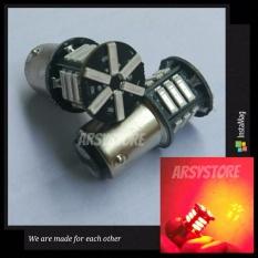 2 Biji Lampu Led Motor Mobil Rem Bayonet 7014 Strobo Kedip Bay15d 21 smd Arsystore ARSY - Merah