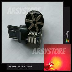 2 Biji Lampu Led Motor Mobil Rem T20 4 Kawat 7014 Strobo Kedip 7443 21 smd Arsystore ARSY - Merah