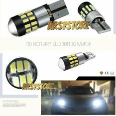 Beli 2 Biji Lampu Led Senja T10 Rotary 30 Mata 3014 Canbus 12V 24V Mobil Motor Arsystore Putih Led Online