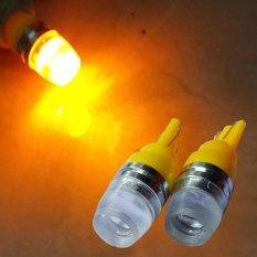 2 Biji Lampu Led Motor Mobil T10 5730 2 titik Senja Sein Proyektor Concave Arsystore ARSY - Kuning