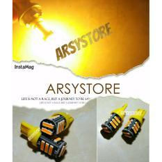 2 Biji Lampu Led Motor Mobil T10 Senja Sein Sen 11 Titik 7020 Super Bright Arsystore ARSY - Kuning Amber
