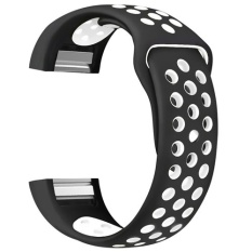 2 colors Silicone watch strap for F Charge 2 bracelet watch band heart rate fitness activity tracker wristband banda belt - intl