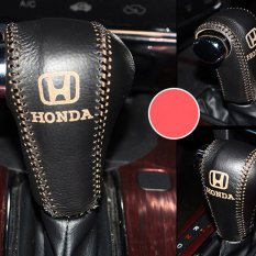 Diskon Produk 2 In 1 Car Hand Sewing Leather Gear Shift Knob Cover Hand Brake Cover Sleeve Intl