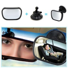 2 Dalam 1 Mini Keamanan Mobil Kursi Belakang Cermin Cermin Bayi Dapat Disesuaikan Bayi Belakang Cembung Cermin Mobil Bayi Anak-anak Monitor -Internasional