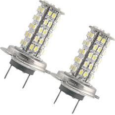 2 Kareta Kendaraan H7 3528 SMD 68 Lampu Bohlam Lampu LED 12 V