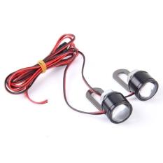 Spesifikasi 2 Buah 12 V 3 Watt Putih Lampu Led Lampu Sorot Mata Elang Untuk Sepeda Motor Kawat Panjang 90 Cm Internasional
