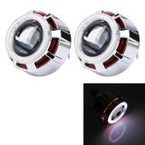 Spesifikasi 2 Pcs 2 5 Inci Universal 12 V Bi Xenon Proyektor Lensa Headlight Kit With Indah Sudut Mata Dekorasi Lampu Merah Dan Harga
