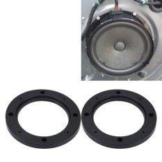 2 Pcs 4 Inch Mobil Auto ABS Stereo Speaker Dasar Perlindungan Hollow Cover Pemegang Tikar, Diameter Dalam: 10 Cm