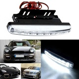 Harga 2 Pcs 6000 K Mobil Running Light 8Led Drl Kabut Mobil Lampu Cahaya Putih Dc 12 V Intl