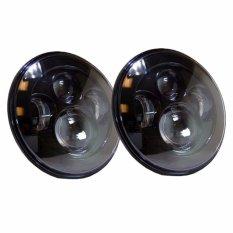 Tips Beli 2 Pcs 7 Inch Round Osram 40 W Lampu Led High Low Beam Untuk Jeep Wrangler Jk Lj Tj Hitam Intl