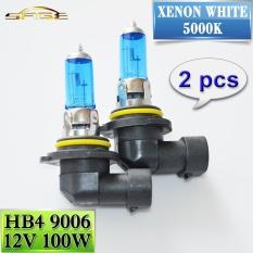 2 Pcs 9006 Hb4 Halogen Lampu 12 V 100 W Mobil Headlight Bulb 5000 K Super Putih Intl Intl Terbaru