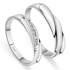 2 Pcs Disesuaikan Cincin Pasangan Cincin Jewellry 925 Perak Adjustable Pecinta Kucing Indonesia Ngumpul Di Sini Cincin E004