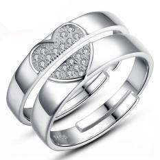 2 Pcs Disesuaikan Cincin Pasangan Cincin Jewellry 925 Perak Adjustable Pecinta Kucing Indonesia Ngumpul Di Sini Cincin E026