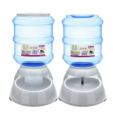Beli 2 Pcs Cats And Dogs Pets Accessories 3 5L Large Automatic Pet Feeder Drinking Fountain Bowl Light Blue Cicilan