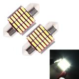 Promo 2 Buah Dc 12 V 3 Watt 31Mm Gigi Seri Pintu Mobil Lampu Kontrol Tanda Pendaftaran Kubah Lampu Pintu Led Lampu Baca With 18 Led Smd 3014 Lampu Putih Murah