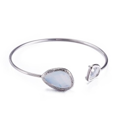 2 Pcs Cepat Jual Fashion Eropa dan Amerika Fashion Baru Tembaga Murni Crystal Pearl Gelang High-end Produsen Perhiasan Khusus Grosir-Intl