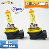 Miliki Segera 2 Pcs H11 Halogen Lampu 12 V 55 W Mobil Fog Light Bulb 3000 K Kuning Intl Intl