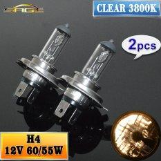 Spesifikasi 2 Pcs H4 Halogen Lamp 12V 60 55W Car Headlight Bulb 3800K Clear Intl Intl Baru