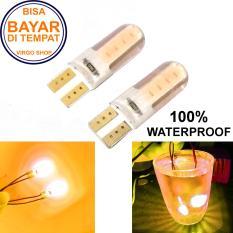 2 Pcs Led Tipe: Diam Gel / Jelly / Silicone Super Bright Soket T10 Bisa Untuk Senja atau Lampu Stop Vario 125/150 - Kuning