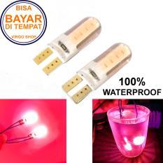 2 Pcs Led Tipe: Diam Gel / Jelly / Silicone Super Bright Soket T10 Bisa Untuk Senja atau Lampu Stop Vario 125/150 - Merah