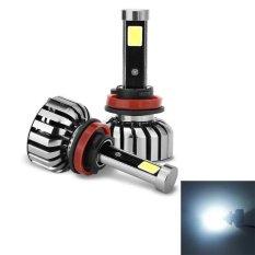 Promo 2 Pcs N7 H8 H9 H11 40 W 4000 Lm 6000 K Waterproof Ip68 Mobil Auto Led Headlight Dengan 2 Cob Led Lampu Dc 9 36 V Lampu Putih Intl Sunsky