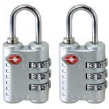 Harga 2 Pcs Baru Tiba 3 Dial Tsa Disetujui Kunci Keamanan Untuk Koper Perjalanan Koper Bag Silver Oem Baru