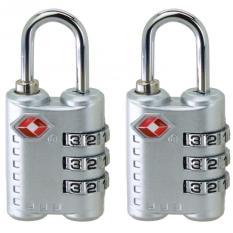 2 Pcs Baru Tiba 3 Dial Tsa Disetujui Kunci Keamanan Untuk Koper Perjalanan Koper Bag Silver Oem Diskon 50