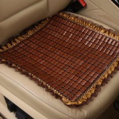 2 Pcs Summer Cooling Bernapas Bambu Sitting Cushion MAT Mobil Keren Kursi Kursi Sofa Cover Slipcover Pad 45x45 CM-Intl