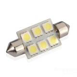 Toko 2 Pieces 39Mm 5050 6 Smd Led Festoon Dome C5W Light Bulb Putih Di Tiongkok
