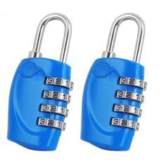 2 X Blue 4 Dial TSA Kombinasi Gembok Resettable Lock Luggage Suitcase Travel