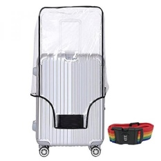 20 24 28 30 Inch Luggage Cover Protector Bag PVC Clear Plastic Suitcase Cover Protectors Travel Luggage Sleeve Protector for Carry on Luggage Rolling Wheeled Suitcase