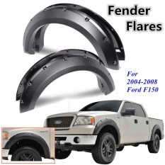 2004-2008 untuk Ford F150 Pickup Painted Rocket Rivet Bolt On Fender Flares-Intl