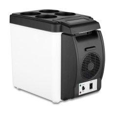 2016 Kulkas Mini Portabel Mobil 12 V 6 Liter Otomatis Perjalanan Kulkas Kualitas ABS Multi-fungsi Rumah Pendingin Freezer Penghangat Ruangan (putih)