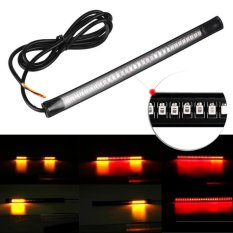 Promo 2016 Sepeda Motor Fleksibel Light Strip 8 Soft 48 Led Tail Rem Berhenti Lampu Turn Hitam Intl Murah