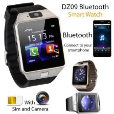 Emas Bluetooth Smart Jam Tangan GSM SIM Kartu Banyak Cermin I Ponsel Samsung Huawei