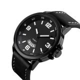 Review 2016 Tinggi Kualitas Ttlife Merek Mewah Pria Bisnis Genuine Leather Band Quartz Watch Hitam Terbaru
