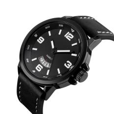 Spek 2016 Tinggi Kualitas Ttlife Merek Mewah Pria Bisnis Genuine Leather Band Quartz Watch Hitam Tiongkok