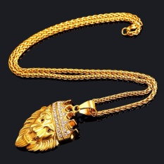 2017 Fashion Pria Hip Hop Iced Out King Crown Lion Pendant W/6mm 27.5
