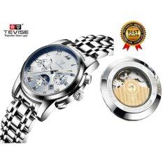 Spesifikasi 2017 Jam Tangan Mekanis Luxury Top Brand Tevise Pria Sport Watch Jam Emas Mens Kalender Otomatis Jam Tangan Dengan Fase Bulan Intl Tevise