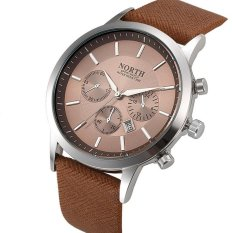 Toko 2017 Mens Watches Merek Utara Mewah Kasual Militer Jam Tangan Olahraga Kuarsa Tali Kulit Pria Clock Watch Relogio Masculino Intl Termurah