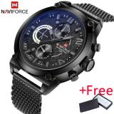 Perbandingan Harga 2017 Naviforce Merek Mewah Pria Analog Quartz 24 Jam Tanggal Watch Jam Tangan Es Man 3Atm Tahan Air Clock Men Sport Full Steel Wrist Watch Jam Tangan Naviforce Di Tiongkok