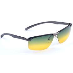 2017 Merek Baru Magnesium Aluminium Desain Kacamata Terpolarisasi Siang dan Malam Vision Kacamata Mengemudi Mengurangi Silau Kacamata Hitam YJA106 (kelabu) Kacamata Hitam [membeli 1 Mendapatkan 1 Hadiah]
