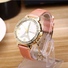 Spesifikasi 2017 Baru Eropa Busana Wanita Watch Tower Siswa Meja Diamond Alloy Tipis Jam Quartz Internasional Yazole