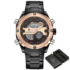 Harga 2017 Baru Fashion Merek Mewah Naviforce Pria Olahraga Watch Jam Tangan Es Pria Quartz Digital Jam Pria Militer Tahan Air Full Steel Watch Jam Tangan Naviforce Online
