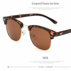 Beli 2017 New Fashion Polarized Sunglasses Women Club Frame Brand Designer Retro Sun Glasses Men Eyewear Ray 3016 Leopard Frame Tea Lens Intl Terbaru